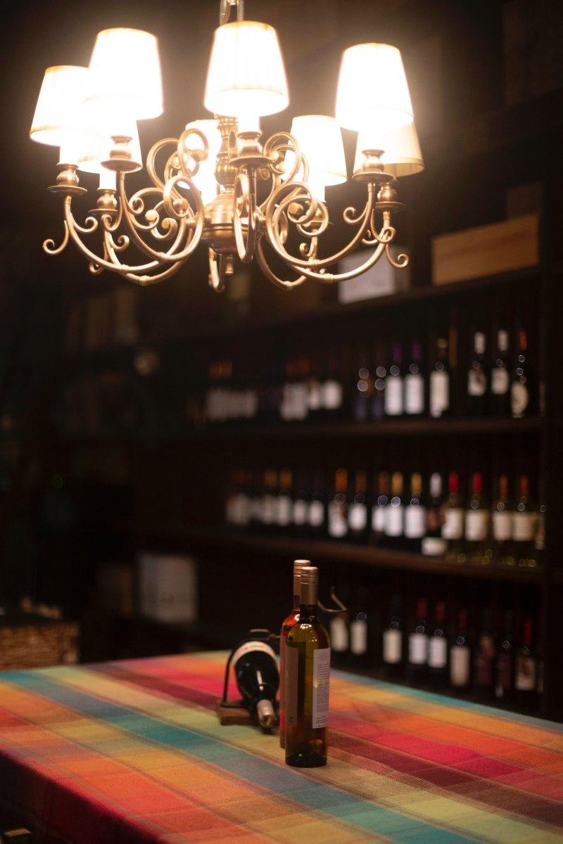 three bottles wine